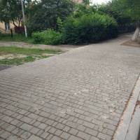 Поточний ремонт тротуарної доріжки по вул. Паркова