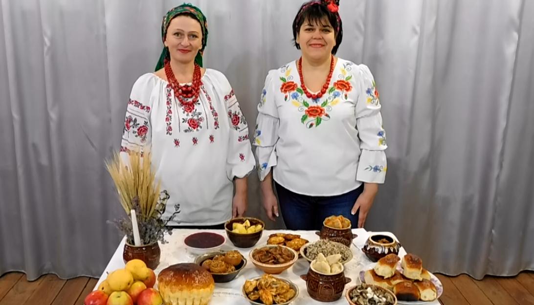 Презентація святкового столу на Святий вечір для участі в обласному фольклорному фестивалі «УЗВАР»