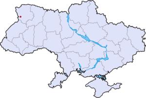 Володимир-Волинський на карті України