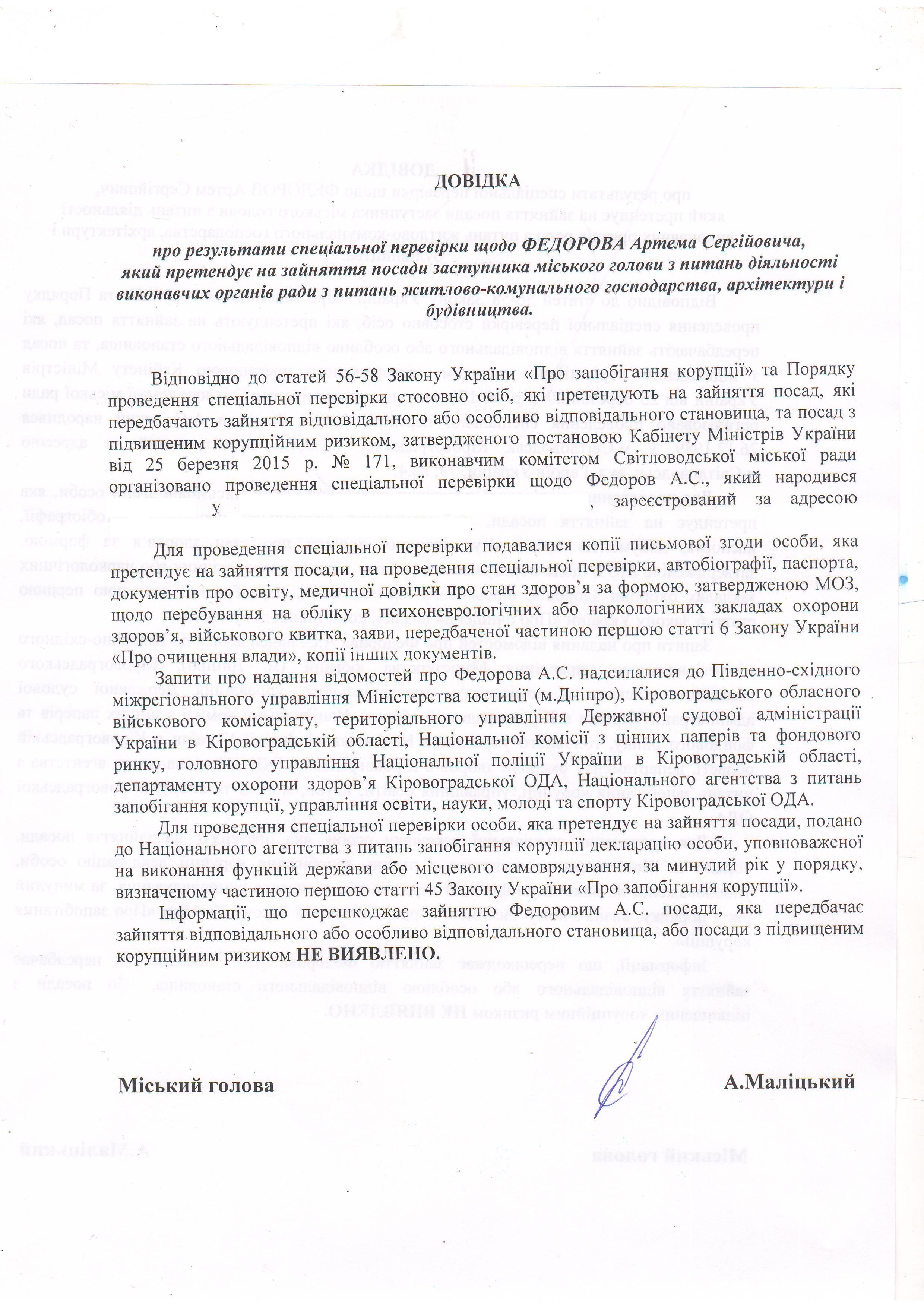 Результати перевірки Федорова А.С.