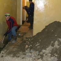 Ремонт системи водовідведення у Жашківській спеціалізованій школі №1 (січень 2018)
