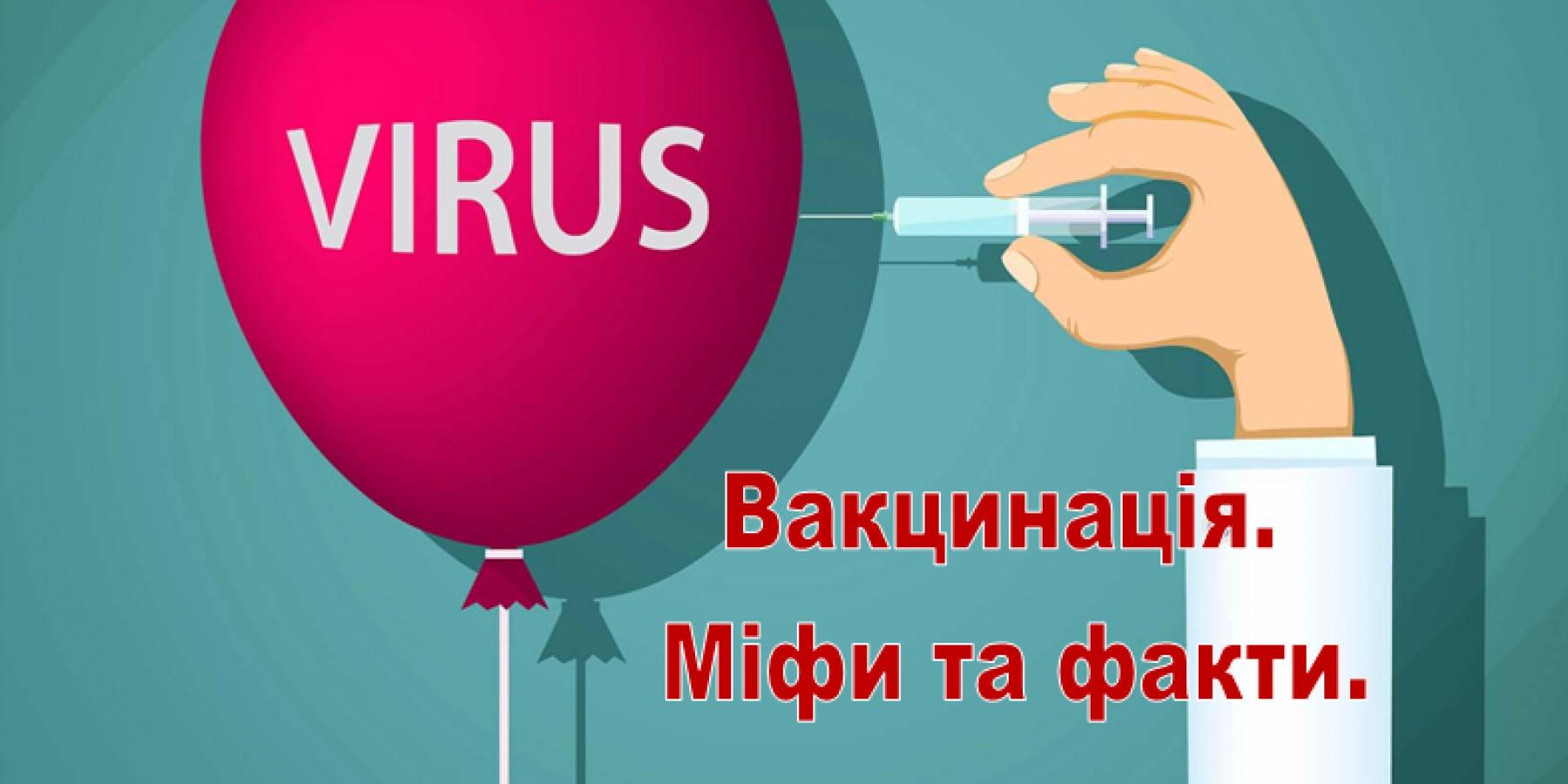 Вакцинація. Міфи та факти.