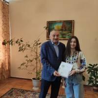 Нагородження Маринкевич Анастасії