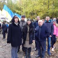 екскурсовод, вчитель історії Тилявського НВК  Волянюк О.М.,  із учасниками Всеукраїнської конференції із різних міст України.