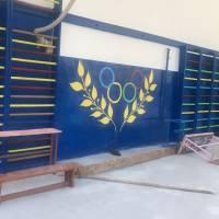 Проведення ремонтних робіт у спортзалі Пугачівського ЗЗСО