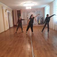 Заняття хореографічного гуртка Підліснівського СБК