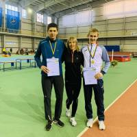 Кравченко Е. та Семенов В. з тренером Шелест Л.Г.