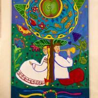 «Любові пам'ять незабутня»(акрил) Чернуха Анна. Викладач: Нефьодов Роман Аркадійович