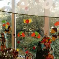 Осіння композиція  на вікні. Горбівський ЗЗСО І-ІІІст.