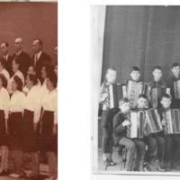 Працював духовий оркестр, хор вчителів і хор учнів