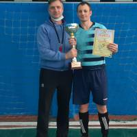 Голова Федерації футболу Великобурлуччини Євген Антоненко привітав переможців