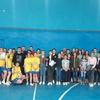 Учасники спортивних змагань з волейболу серед закладів загальної середньої освіти Великобурлуччини