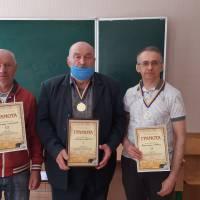 Переможець та призери спортивних змагань (зліва на право):О. Самородов, М. Аліпов, К. Швець.