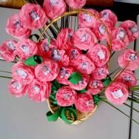Букет квітів із фотографіями